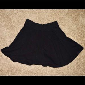 Black Forever 21 skater/circle skirt